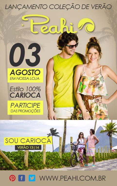 Coleção de Verão Peahi - Sou Carioca